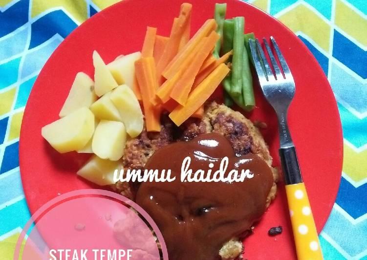 Resep Steak tempe saus berbeque