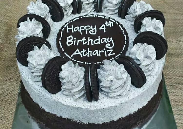 Resep Oreo Birthday Cake Base Brownies Kukus