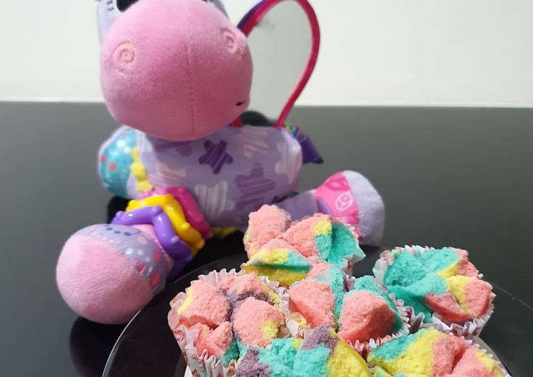 Resep Bolu kukus unicorn