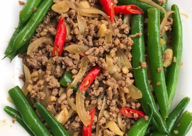 Resep Tumis Buncis Daging Giling