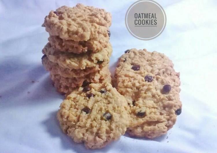 Resep Oatmeal Cookies (enak, renyah, healthy)