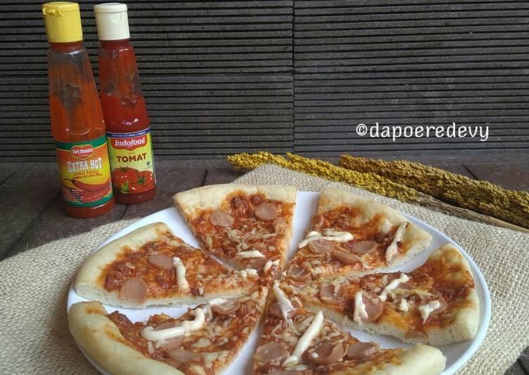 Resep Pizza Ulen 3 menit, Awet Empuk