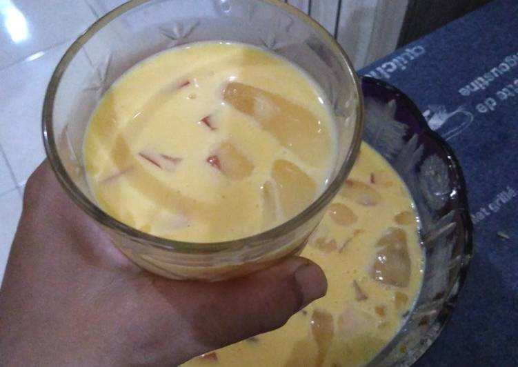 Resep Fresh mango dessert (mango sago tanpa sago)