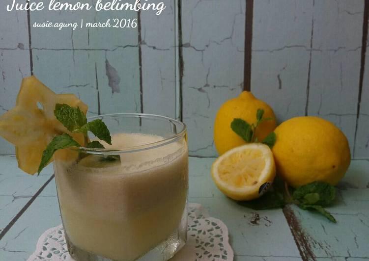 Resep Juice lemon belimbing