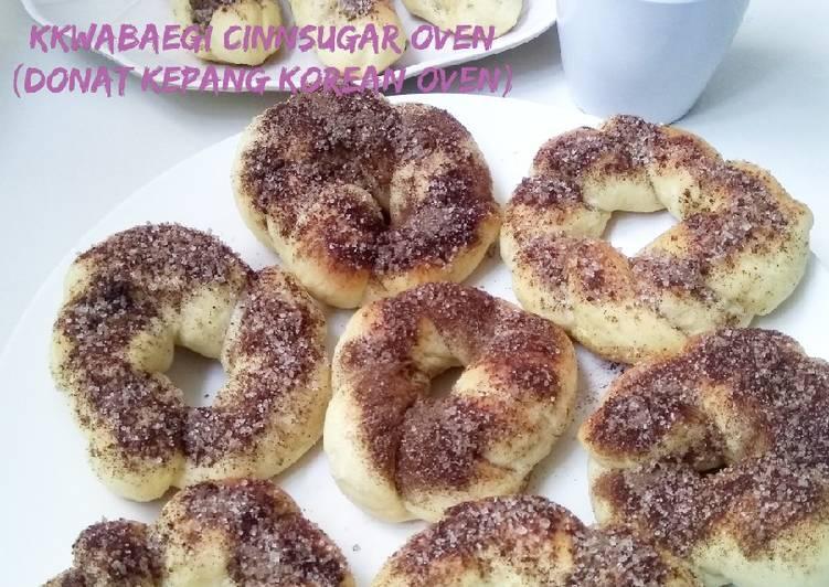 Resep Donat Kepang Korean Oven cinnamon sugar