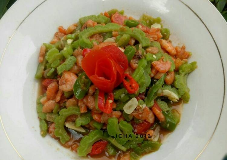 Resep Tumis udang pare