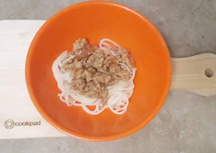 Resep Spagethi tuna for batita
