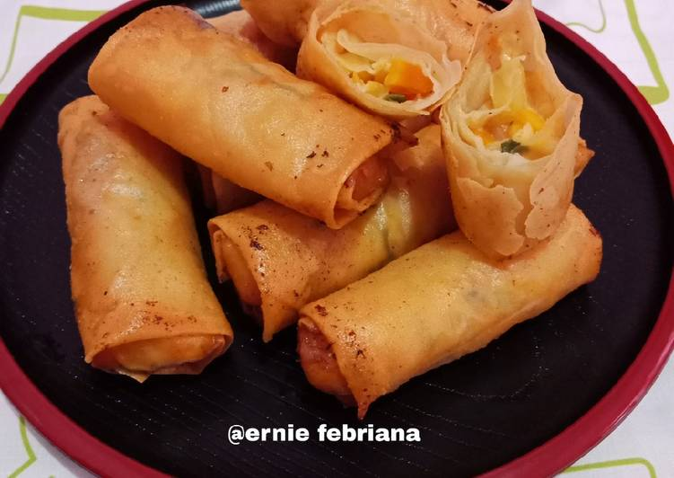 Resep Cheese Vegetable Spring Roll