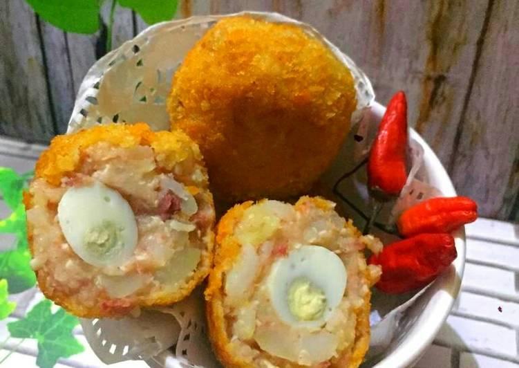 Resep Bola-bola kentang isi telur puyuh