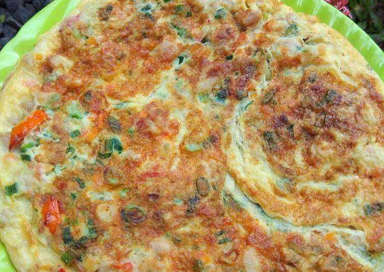Resep Omelette Ayam Pedas