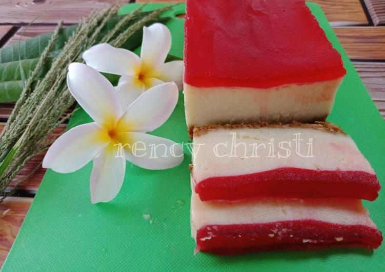 Resep Strawberry Cheese Cake, Tanpa Oven Pake Roti Tawar