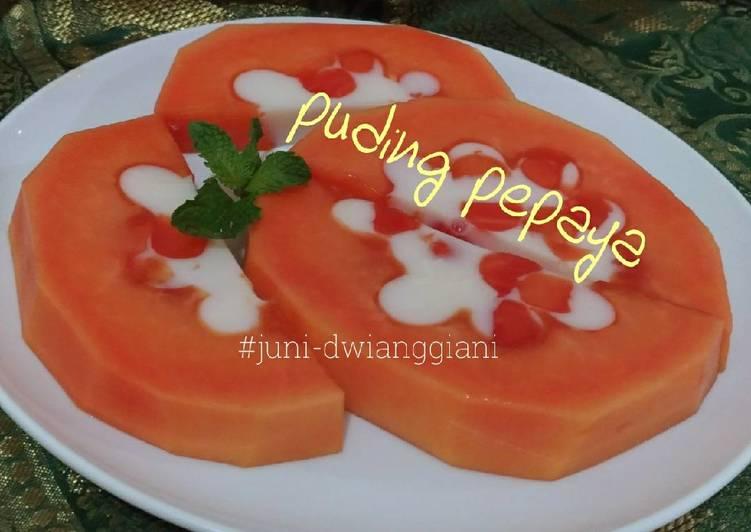 Resep Puding Pepaya cantik
