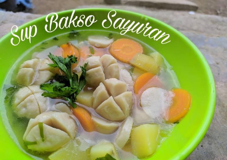 Resep Sup Bakso Sayuran