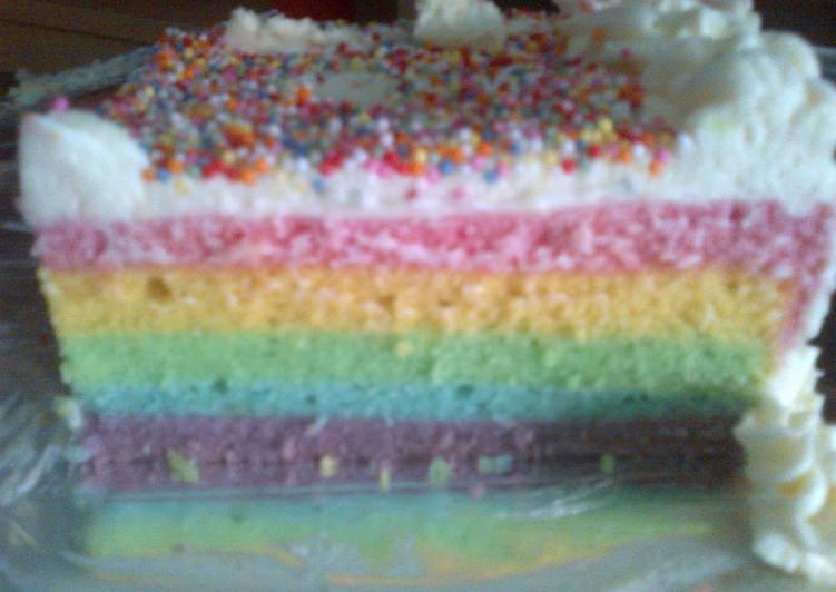 Resep rainbow kukus