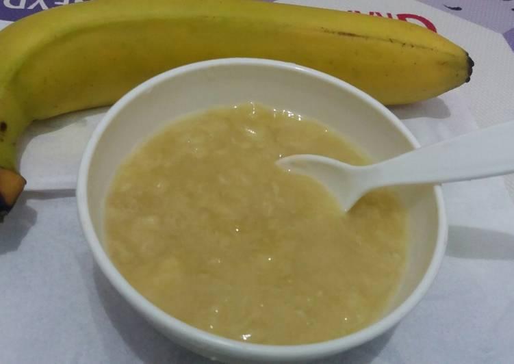 Resep MPASI pure pisang