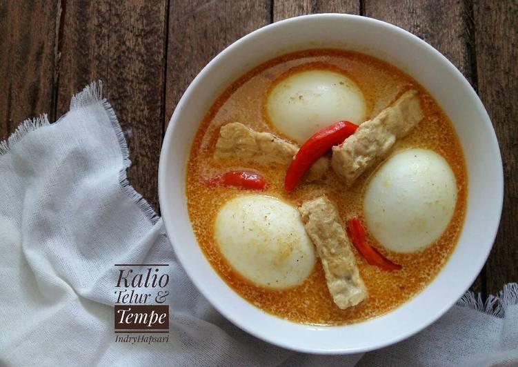 Resep Kalio Talua/Telur & Tempe #pr_recookmasakanawalanT