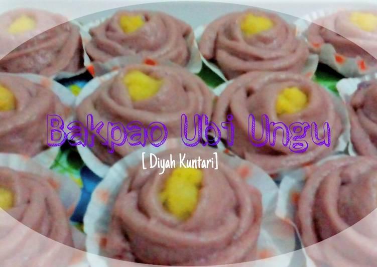 Resep Bakpao Ubi Ungu Super Lembut + step bikin rose nya