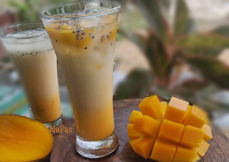 Resep Es buah Mangga Selasih
