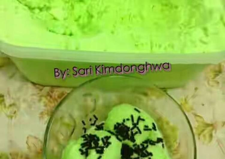 Resep Ice Cream Rumahan Rasa Melon