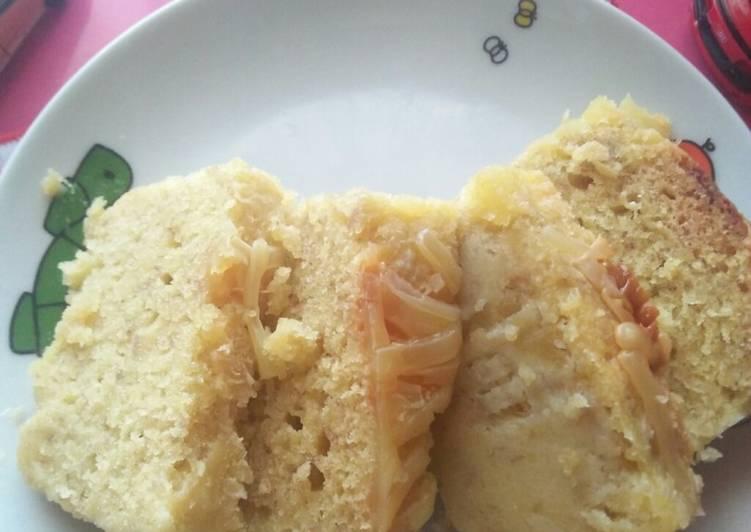 Resep Banana Cake, pakai Microvawe