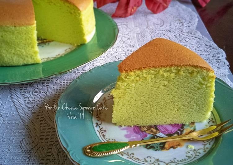 Resep Pandan Cheese Sponge Cake