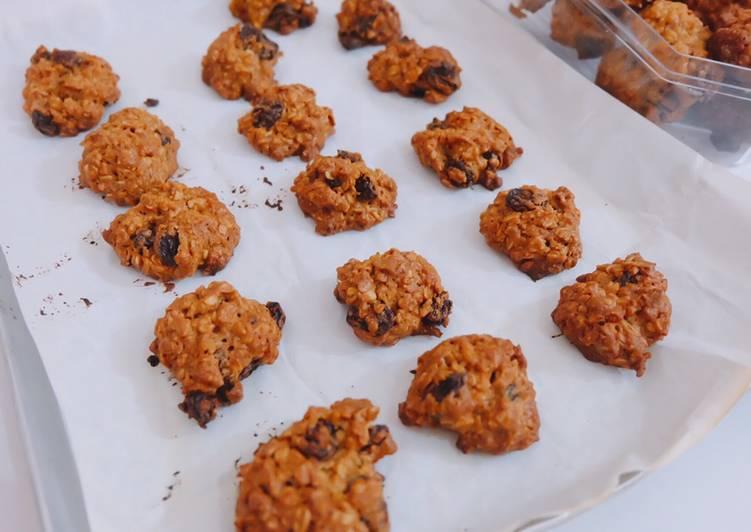 Resep Oatmeal raisin cookies
