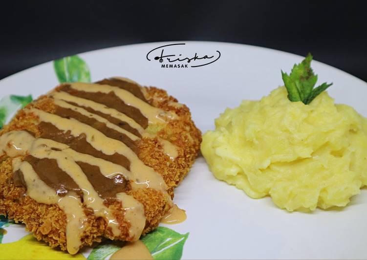 Resep Chicken Katsu with Mashed Potato by #Fmemasak