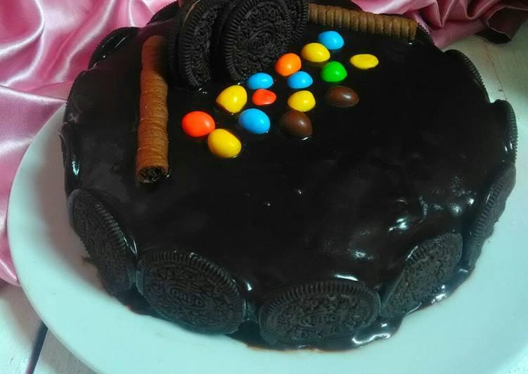 Resep Bolu Jadul hias Coklat Ganache