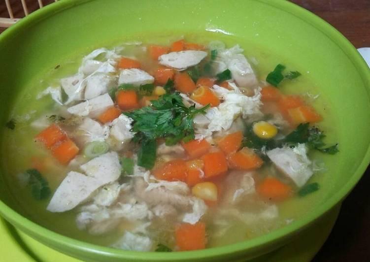 Resep Sup Jagung Baso Ayam