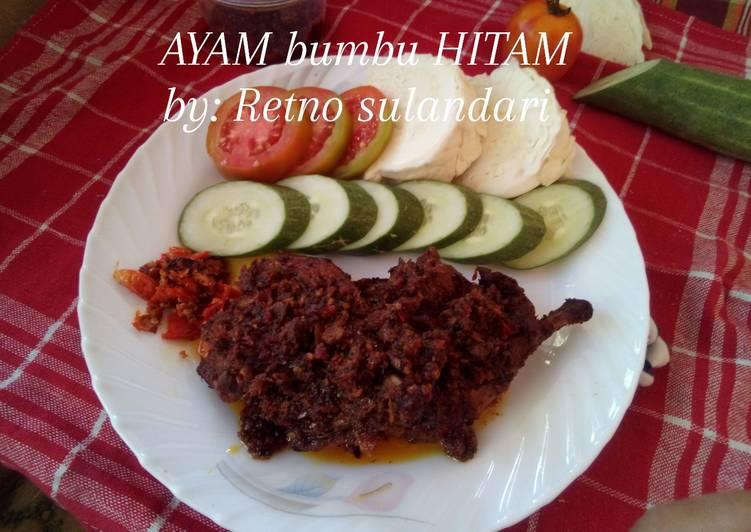 Resep #AYAM bumbu HITAM (Madura)