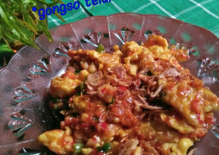 Resep *gongso telur khas Semarang*