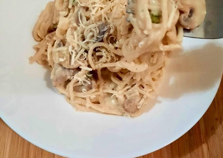 Resep Spaghetti Creamy Mushroom