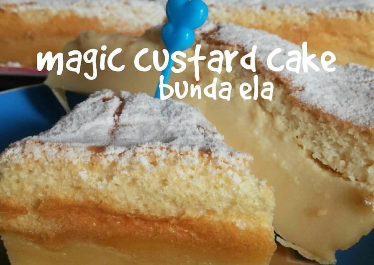 Resep Magic Custard Cake