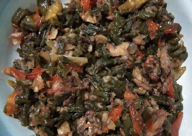 Resep Oseng ikan asin kacang panjang