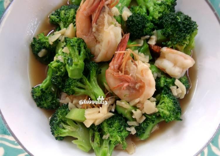Resep Cah Brokoli Udang