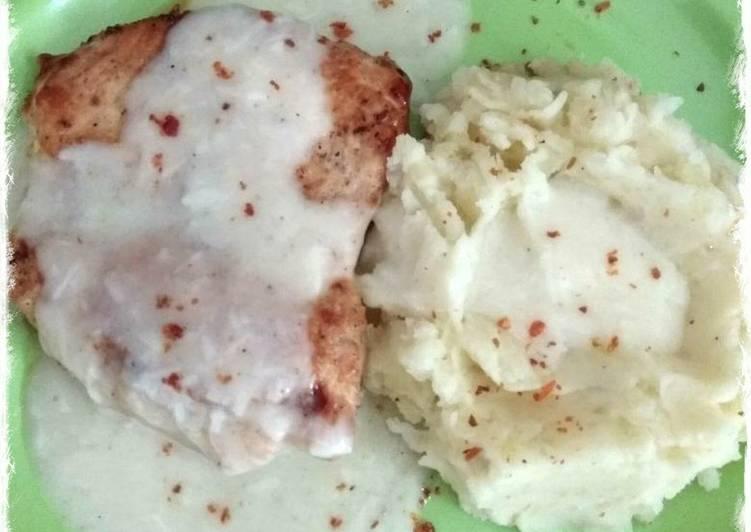 Resep Chicken Steak with Creamy Sauce