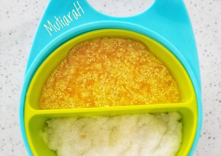 Resep MPASI 8 bulan + Sop Anti GTM (Jagung Telur Ayam Wortel)