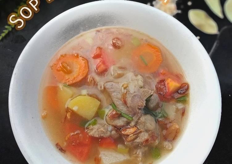 Resep Sop Bening Khas Betawi (Kikil Dan Daging Sapi)