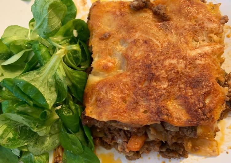 Resep Beef lasagna (simple)