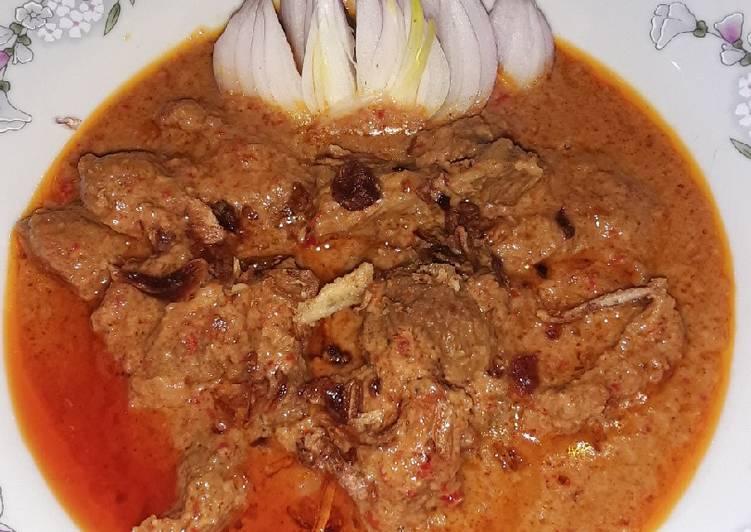 Resep Gulai daging santan kental