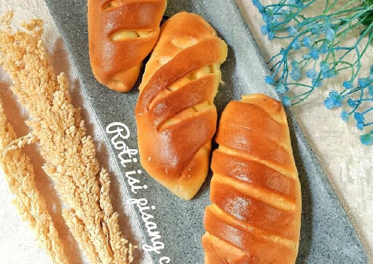 Resep Roti isi pisang coklat