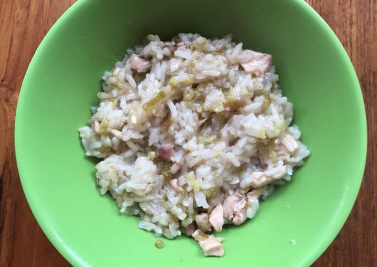 Resep MPASI 1 Tahun Keatas Nasi Tim Ayam Brokoli