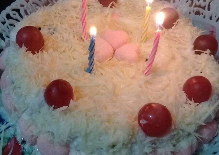 Resep Birtday cake oreo simple
