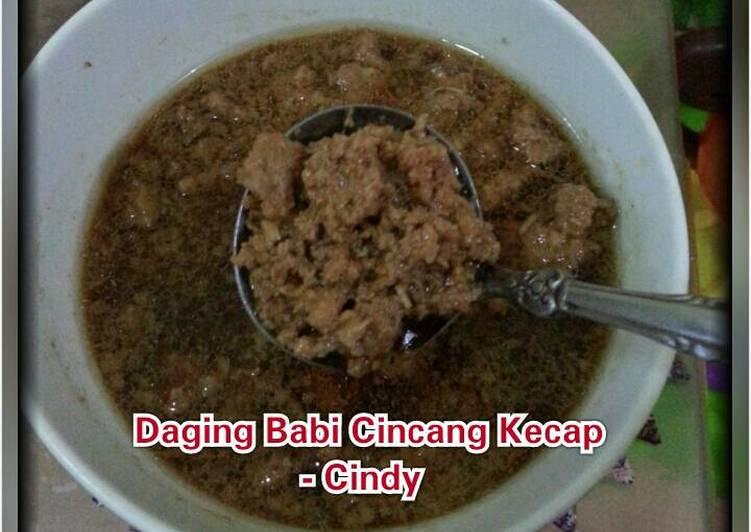 Resep Daging Babi Cincang Kecap (Non Halal)