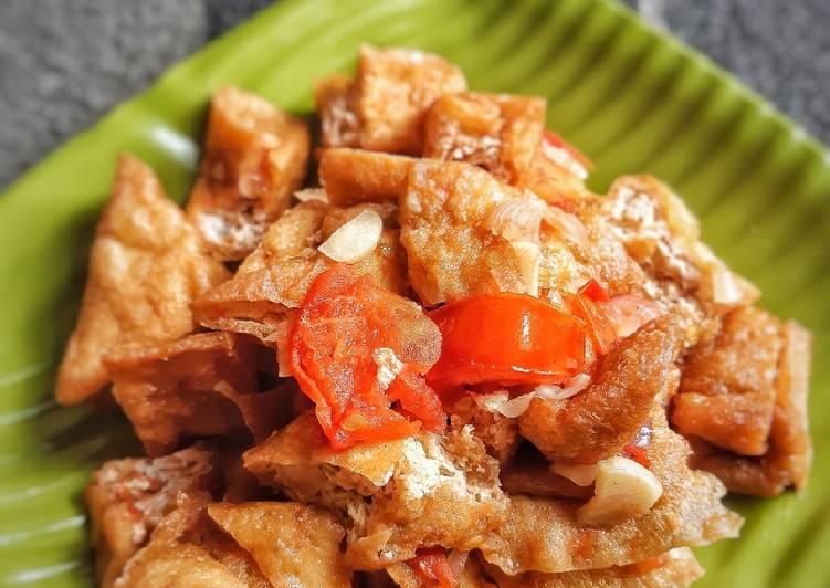 Resep Tahu goreng pedas manis SIMPLE