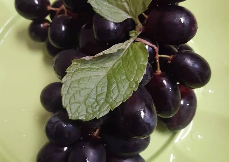 Resep Cemilan sehat anggur hitam tanpa biji