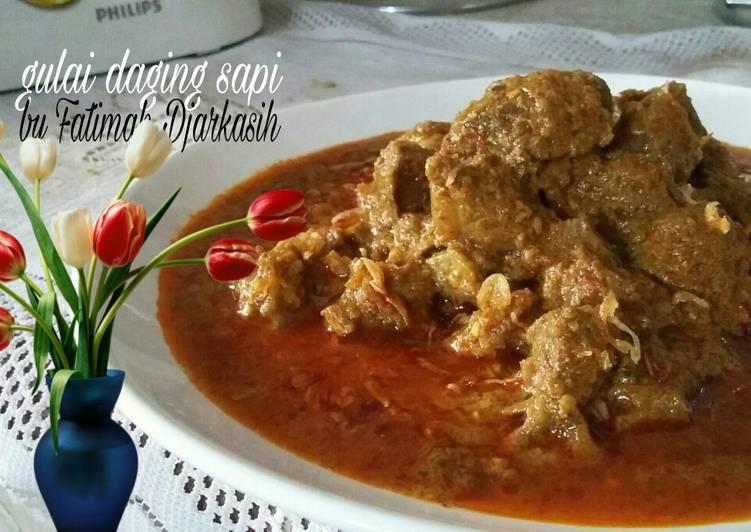 Resep Gulai daging sapi