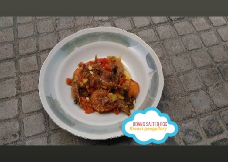 Resep 1Udang salted egg spicy
