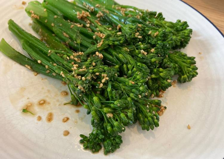 Resep Broccolini Gomaae, side dish simple dan kilat banget!