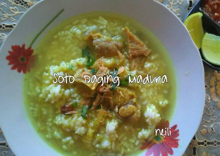 Resep Soto Daging Madura